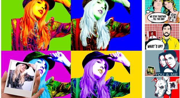 ArtYourFace Stilrichtungen: Andy Warhol, Roy Lichtenstein und Obama
