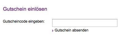 Gutschein-Feld